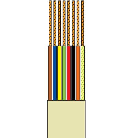 Cablu telefonic 8 fire crem rola 10m edc