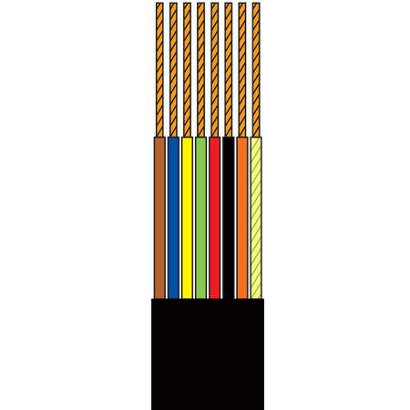 Cablu tel.plat 8 fire negru - 100m