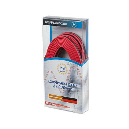 Cablu difuzor rosu/negru 2x1.5mm2 10m blister