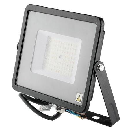 Reflector led smd slim 50w 120lm/w 4000k ip65 negru, cip samsung