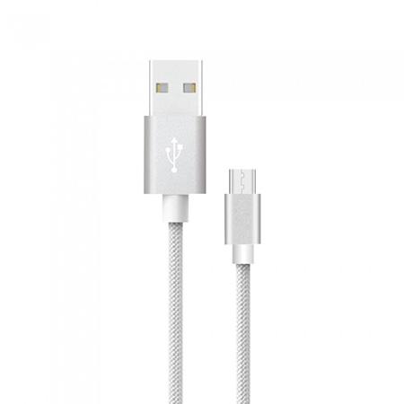 Cablu micro usb 1m platinum editon - argintiu