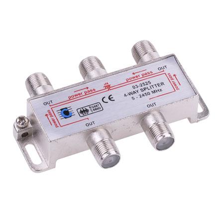 Splitter 4 cai power pass 5-2450 mhz