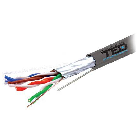 Cablu ftp cat 5e cupru 0.5mm sufa 305m ted electric