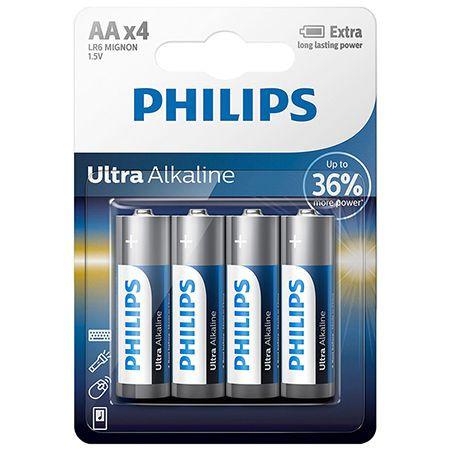 Baterie ultra alcalina lr06 aa 4buc philips