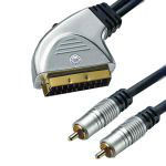 HT CABLU SCART - 2RCA+INTR.GOLD 10M