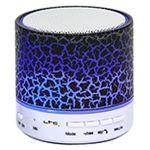 MINI BOXA ILUMINATA LED CU BLUETOOTH/USB/AUX/MIC NEGRU
