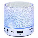 MINI BOXA ILUMINATA LED CU BLUETOOTH/USB/AUX/MIC ALB