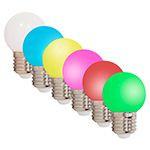 SET 6 BECURI LED E27 G45 0.5W COLORATE