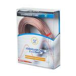 cablu difuzor transparent 2x0.75mm2 25m blister