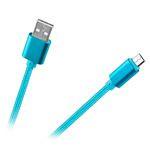 CABLU USB - MICRO USB NYLON ALBASTRU