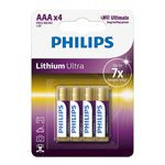 BATERIE ALCALINA LR03 AAA LITHIUM ULTRA 4BUC PHILIPS