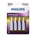 BATERIE ALCALINA LR06 AA LITHIUM ULTRA 4BUC PHILIPS