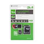 MICROSD CARD 16GB CLS 10 + ADAPTOR + CITITOR USB