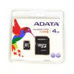 MICRO SD CARD 4GB CU ADAPTOR ADATA