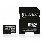 MICRO SD CARD 8GB CLS 10  TRANSCEND