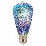 BEC LED ST64 E27 3W CU FILAMENT 3000K ALB CALD MODEL 3D
