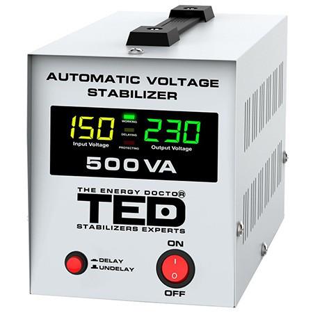 Stabilizator tensiune automat avr 500va lcd ted
