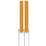 CABLU DIF.2X2.5 ALB TAMBUR - 100M