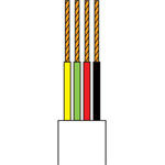 CABLU TELEFONIC 4 FIRE ALB ROLA 25M EDC