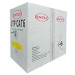 CABLU UTP CAT 6 CUPRU 23AWG 0.57MM 305M EMTEX