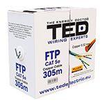CABLU FTP CAT 5E CUPRU 0.52MM 305M TED ELECTRIC