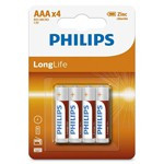 BATERIE LONGLIFE R3 AAA BLISTER 4 BUC PHILIPS