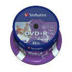 DVD+R VERBATIM 4,7 GB 16X PRINTABIL CAKE 25B