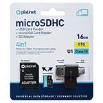 MICRO SD CARD 16GB OTG/CARD READER/ADAPTOR PLATINET
