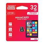 MICRO SD CARD 32GB CLS 10 GOODRAM