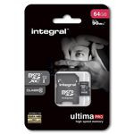 MICRO SD CARD 64GB CLASS 10 INTEGRAL