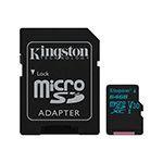 MICRO SD CARD 64GB UHS-1 4K ADAPTOR KINGSTON