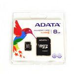 MICRO SD CARD 8GB CU ADAPTOR ADATA