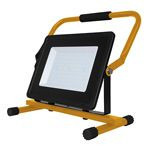 REFLECTOR LED CU SUPORT 100W 6400K IP65 NEGRU/GALBEN